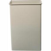 Safco® Rectangular Wastebasket, 88 Qt. Sand Qty. 3 - 9618SA