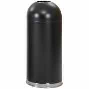 Safco® Open Top Dome Receptacles 15 Gallon Black - 9639BL