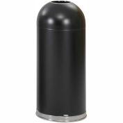 Safco® Open Top Dome Receptacles 15 Gallon Black - 9639BL
