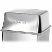 Safco® Stainless Steel Push-Top Lid for 36 Gallon Base - 9662SS