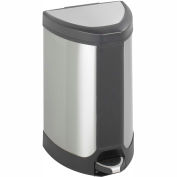 Safco® Step-On 7 Gallon Stainless Receptacle, Stainless Steel - 9686SS