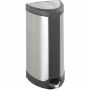Step-On 10 Gallon Stainless Receptacle - Stainless Steel
