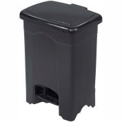 Safco® Plastic Step-On Receptacle, 4 Gallon Black - 9710BL