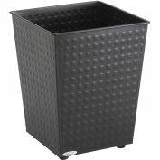 Checks Wastebasket (Qty. 3) - Black