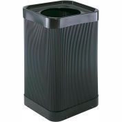 Square Poly Trash Receptacle - 38 Gallon