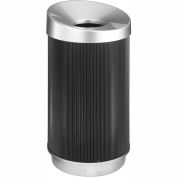 Round Poly Trash Receptacle - 38 Gallon