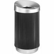 At-Your-Disposal® 9799BL Vertex Trash Receptacle - 38 Gallon