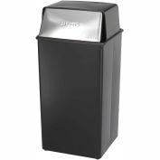 Safco® Push Top Receptacle, 36 Gallon - 9895