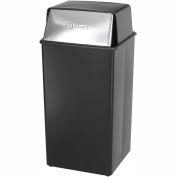 Safco® Push Top Receptacle, 36 Gallon - 9895