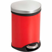 Safco® Step-On Medical Receptacle, 1.5 Gallon Red - 9900RD