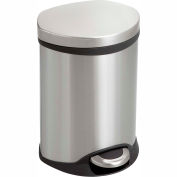 Safco® Step-On Medical Receptacle, 1.5 Gallon SS - 9900SS