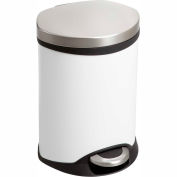 Safco® Step-On Medical Receptacle, 1.5 Gallon White - 9900WH
