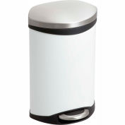 Step-On Receptacle - 3 Gallon White