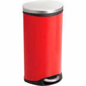 Step-On Receptacle - 7.5 Gallon Red