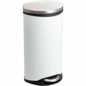 Safco® Step-On Receptacle, 7.5 Gallon White - 9902WH
