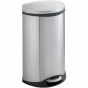 Safco® Ellipse Step-On Can 12-1/2 Gallon Stainless Steel - 9903SS
