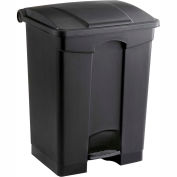 Plastic Step-On Receptacle - 17 Gallon Black