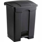 Safco® Plastic Step-On Receptacle, 17 Gallon Black - 9922BL
