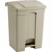 Plastic Step-On Receptacle - 17 Gallon Beige