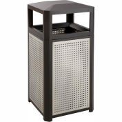 Evos™ Series Steel Garbage Can, 15 Gallon - 9932BL