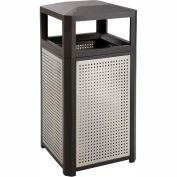 Evos™ Series Steel Garbage Can, 15 Gallon - 9932BL