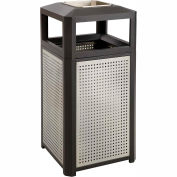 Evos™ Series Steel Garbage Can w/ Ash, 38 Gallon - 9935BL