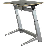 "Focal™ Locus 4 Height Adjustable Sit-Stand Desk - 48"" x 30"" - Black"