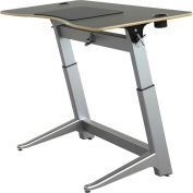 "Focal™ Locus 4 Height Adjustable Sit-Stand Desk - 60"" x 30"" - Black"