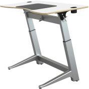 "Focal™ Locus 4 Height Adjustable Sit-Stand Desk - 60"" x 30"" - Glacier White"