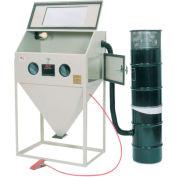 ALC 40403L Top & Side Open Blast Cabinet W/ Dust Collector, Steel