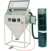 ALC 40403L Top & Side Open Blast Cabinet W/ Dust Collector, Steel, With Free Beads
