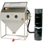 ALC 40411L Top & Side Open Blast Cabinet W/ Dust Collector, Steel