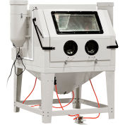 Allsource 41200 Front Open Dual Station Abrasive Blast Cabinet, Steel