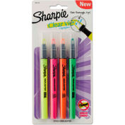 Sharpie® Clearview Pen-Style Highlighter - Fine Chisel Tip - Assorted Ink - 4 Pack