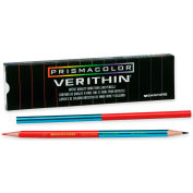Prismacolor Verithin Colored Pencil, Red, Blue Lead, Red, Blue Barrel, Dozen