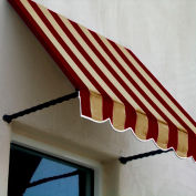Awntech SANT21-4BT Window/Entry Awning 4-3/8'W x 2-9/16'H x 1'D Burgundy/Tan
