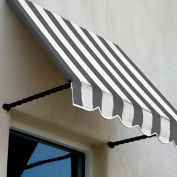 Awntech SANT33-8GW, Window/Entry Awning 8-3/8'W x 3-11/16'H x 3'D Gray/White