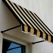 Awntech SANT22-8KT, Window/Entry Awning 8-3/8'W x 2-9/16'H x 2'D Black/Tan