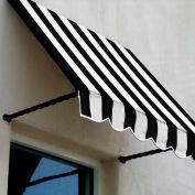 Awntech SANT33-8KW, Window/Entry Awning 8-3/8'W x 3-11/16'H x 3'D Black/White
