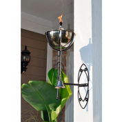 Starlite Maui Grande Outdoor Sconce Torch - Smooth Nickel - 2 Pack