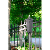 Starlite Classic Pole Outdoor Torch - Textured Black