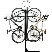 Bike Fixation 8063, Indoor 6 Bike Lockable Double Sided Vertical Storage Rack