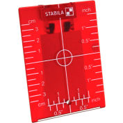 STABILA® 07474 Red Magnetic Ceiling Target Plate