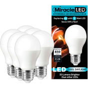 MiracleLED 604726 Affordable Household Bulb, A19, 9W, 6 bulbs per pack