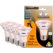 MiracleLED 604730 Outdoor Security Flood Bulb, PAR20, 4W, 4 per package