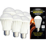 MiracleLED 604754 LED Bulb, A19, 12W, package of 6