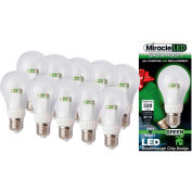 MiracleLED 604759 Grow Room Specialty Light Bulb, A19, 6W, Package of 10