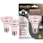 MiracleLED 604763 Fat Beam Security Bulb, Wide Angle Flood Light PAR20, 5W, 2 per package