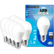 MiracleLED 604771 LED Cool Max Bulb, A20, 12W, Package of 8