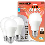 MiracleLED 604775 LED Warm Max Bulb, A20, 12W, package of 4